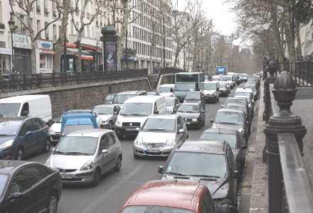 Circulation sur les grands boulevards