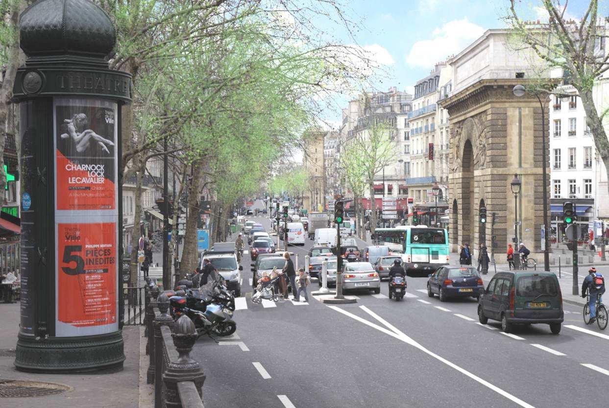 Photomontage des Grands Boulevards