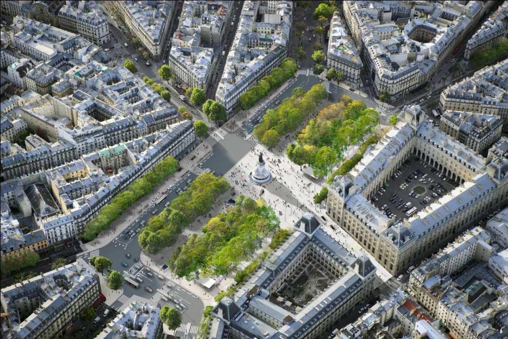 La Marianne de la place de la République risque de perdre ses fontaines