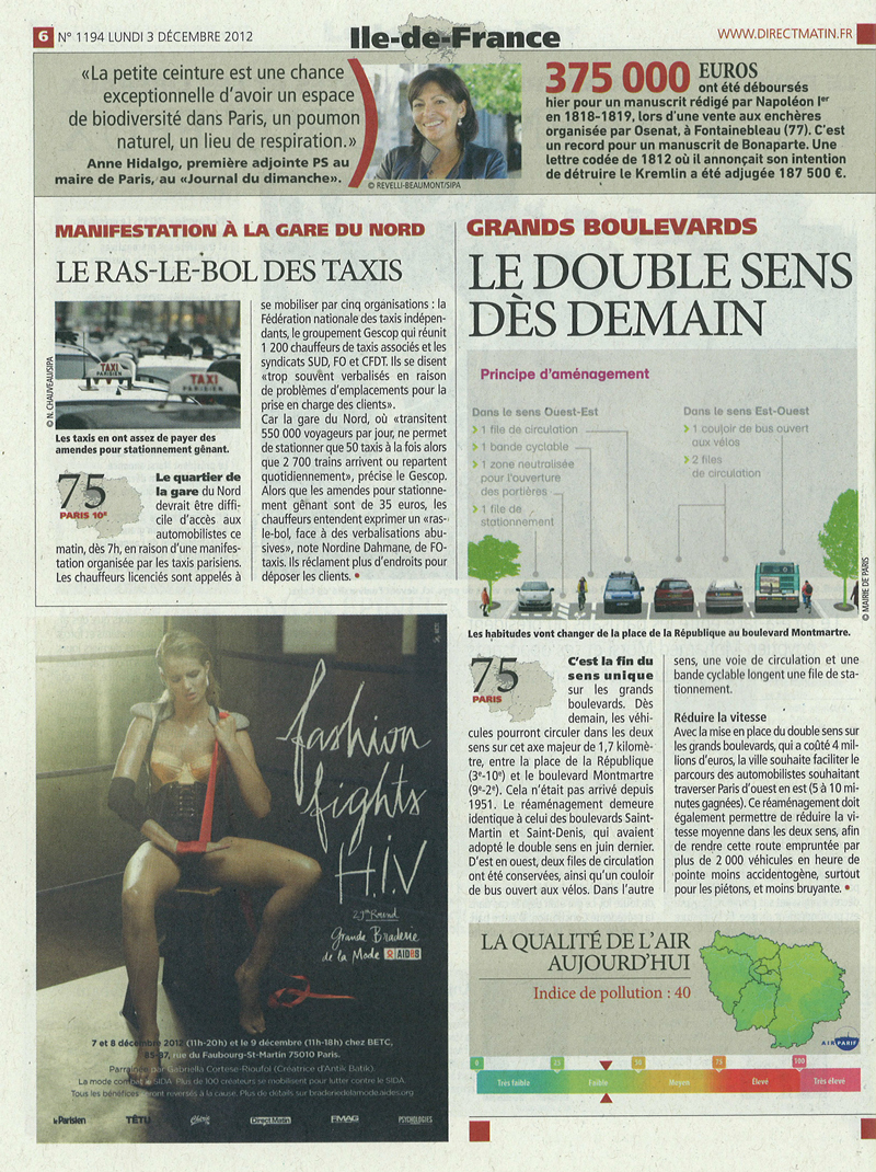 Direct Matin - Grands Boulevards - Double Sens - 12 2012