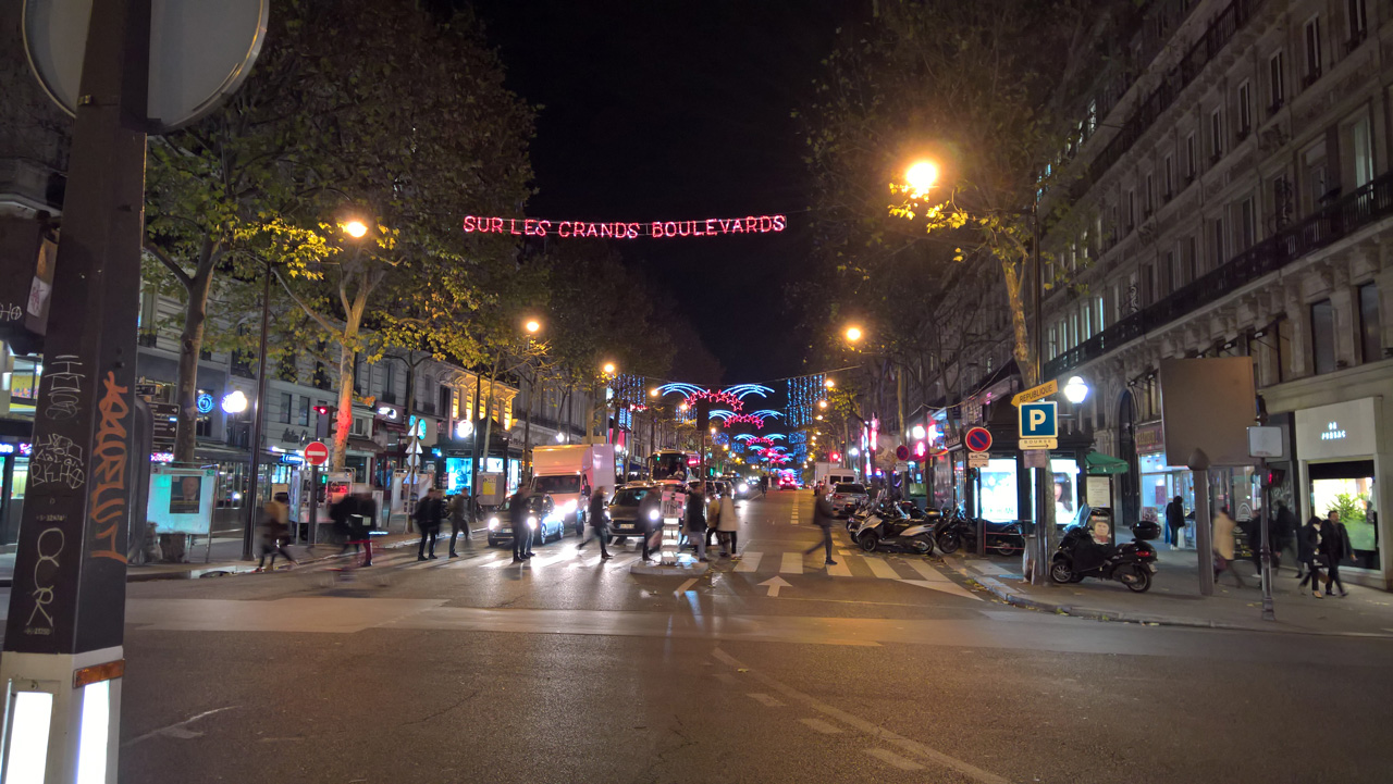 Inauguration des illuminations de Noel des Grands Boulevards 2016-2017