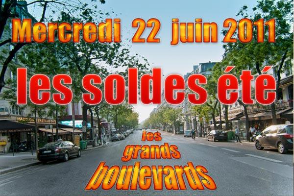 Les soldes d'été 2011 sur les grands boulevards