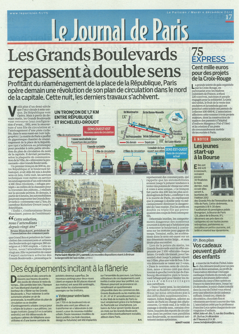 Le Parisien - Grands Boulevards - Double Sens - 2012