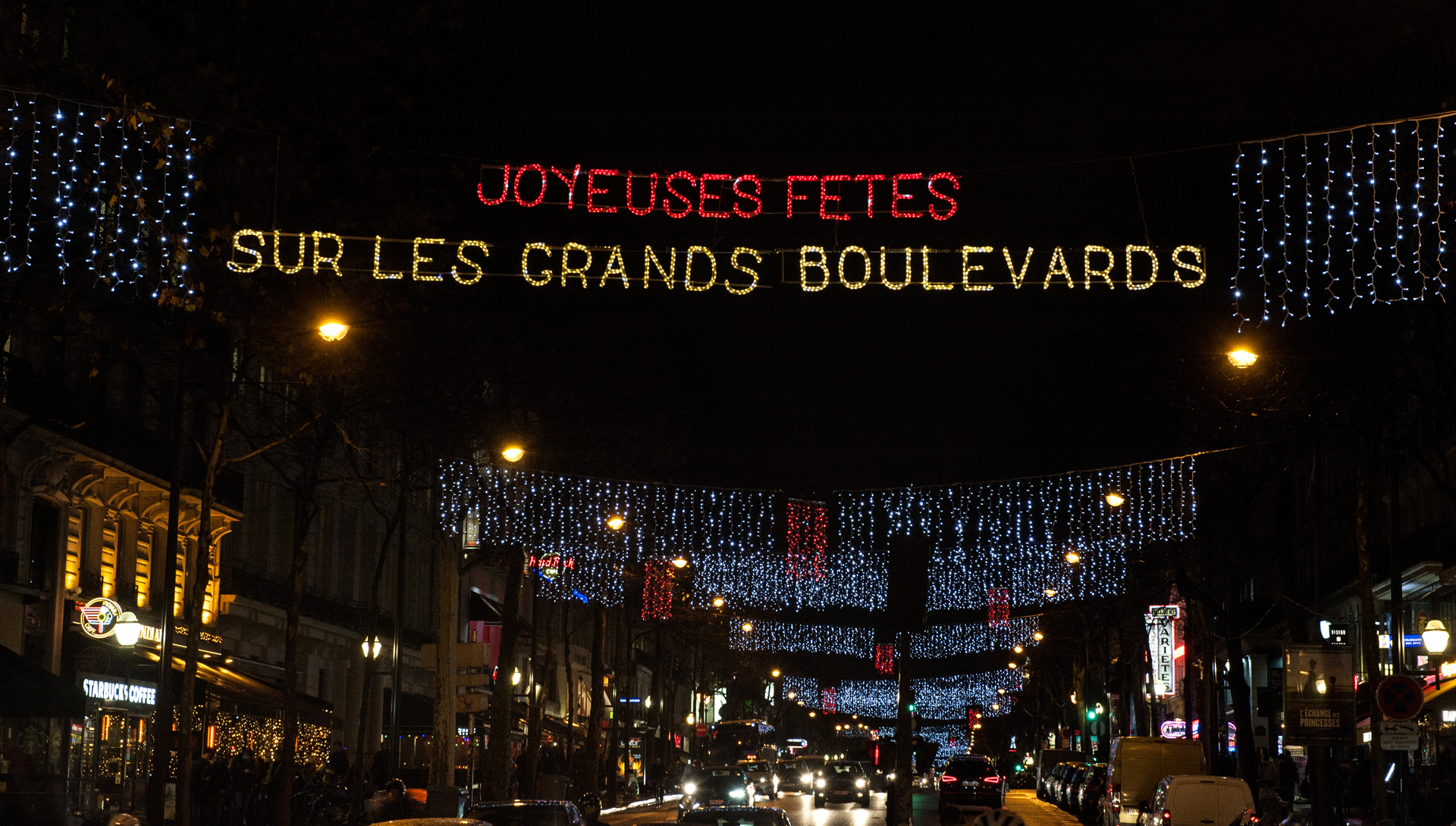 Inauguration des illuminations de Noel des Grands Boulevards 2017-2018